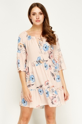 New Collection Floral Printed Oversize Dress