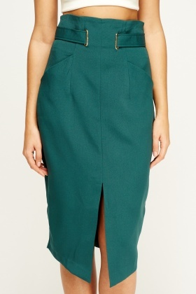 Sweewe Belted Green Smart Skirt