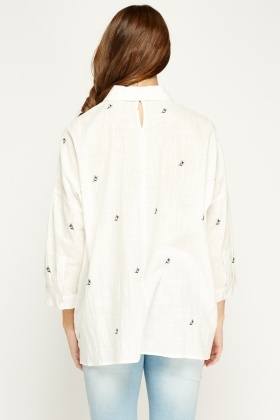 Sweewe Embroidered White Shirt