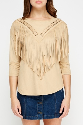 Tassel Front Suedette Box Top