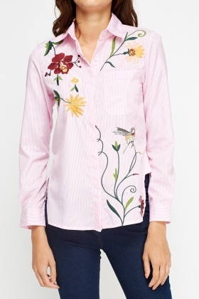 V.Code Applique Front Shirt