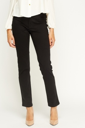 Straight Leg Casual Trousers