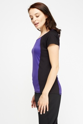 Contrast Panel T-Shirt