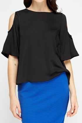 Cut Out Shoulder Top