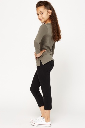 Dark Grey Set Of 2 Top And Trousers