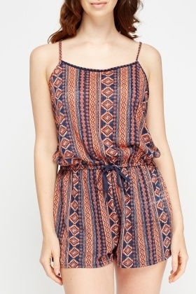 Geo Printed Playsuit