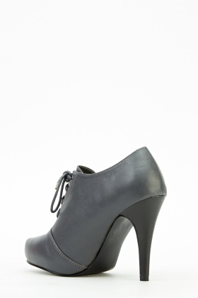 Grey Heeled Ankle Boots