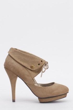 Tie Up Platformed Heels