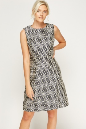Woven Midi Shift Dress
