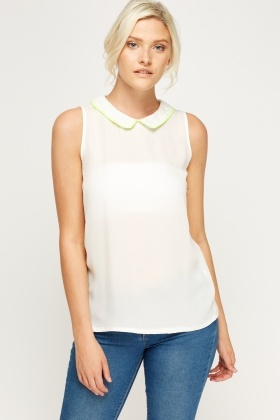Buttoned Back Sleeveless Top