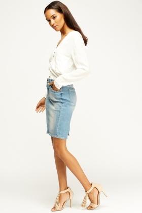 Light Blue Denim Skirt - Just £5
