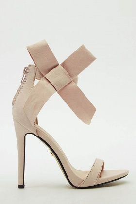 Ideal Bow Ankle Heeled Sandals