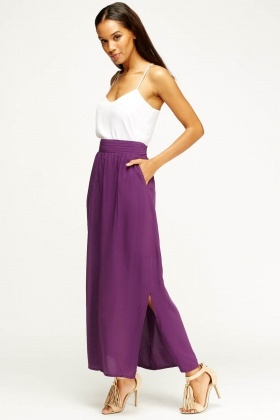 Slit Side Maxi Skirt