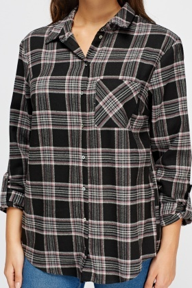 Check Grid Black Shirt