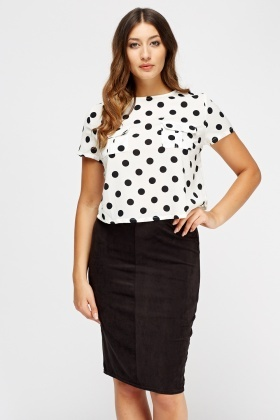 Cropped Polka Dot Top