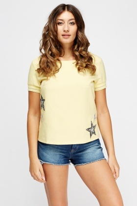 Embellished Star Applique Top