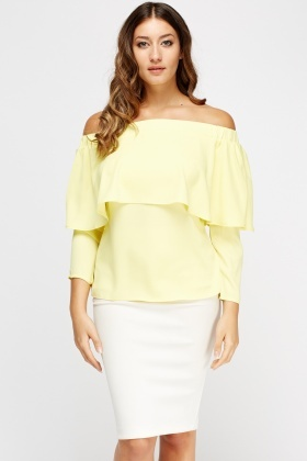 Off Shoulder Flared Top