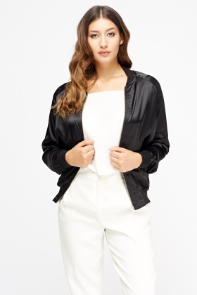 Sateen Bomber Jacket
