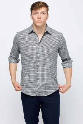 Black Check Grid Shirt