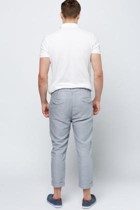 Middle Blue Casual Trousers
