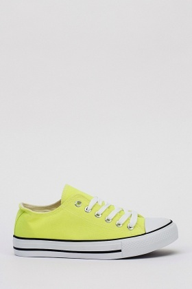 Fluorescence Yellow Trainers
