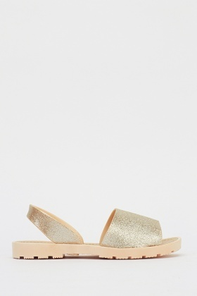 Glittered Slip On Sandals