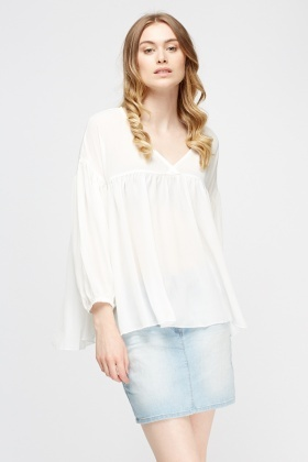 Low Neck Flared Top