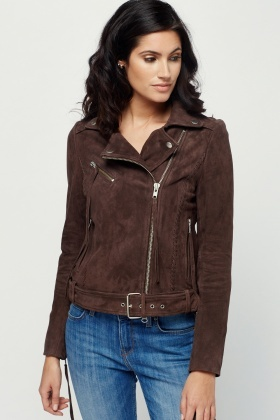 Muubaa Byron Lashed Biker Leather Jacket
