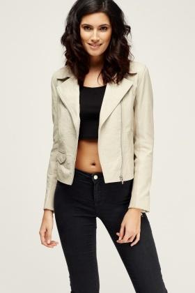 Muubaa Gulrro Stone Leather Biker Jacket