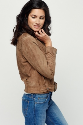 Muubaa Seaton Belted Biker Leather Jacket