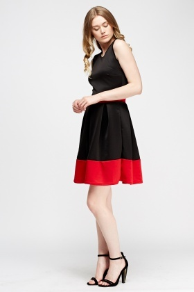 Two Tone Skater Formal Dress