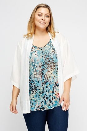 Light Weight Open Front Cardigan