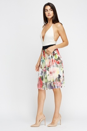 83a827e5b Pleated Floral Midi Skirt - Just £5