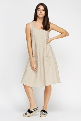Swing Pleated Front Dress