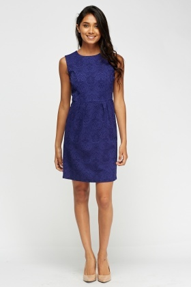 Zibi London Jacquard Shift Dress