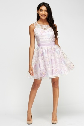 Zibi London Organza Floral Dress