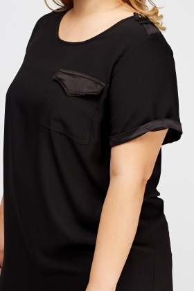 Black Casual Tunic Top