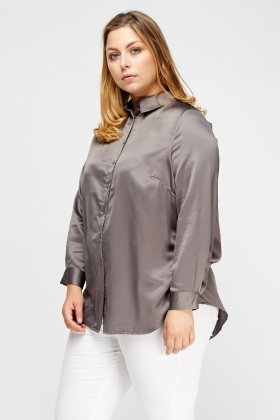 Embroidered Back Satin Blouse
