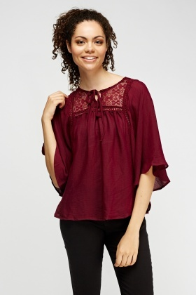 Lace Insert Plum Box Top