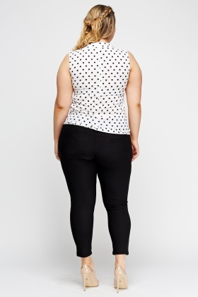 Pocket Side Casual Leggings