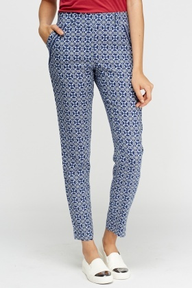 Printed Blue Trousers