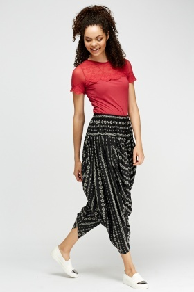 Printed Harem Trousers