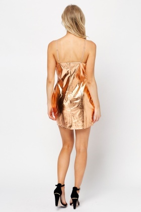Metallic Bodycon Mini Dress
