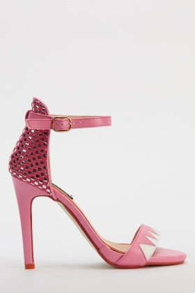 Sergio Todzi Woven Back Fuchsia Heeled Sandals