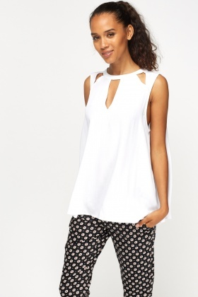 Cut Out Sleeveless Top