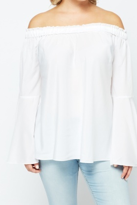 Flared Off Shoulder Top