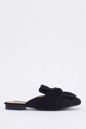 Knot Front Slip On Shoes