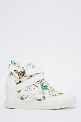 Wedge Floral High Top Trainers
