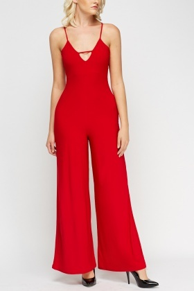 Detailed Wide Leg Jumpsuit