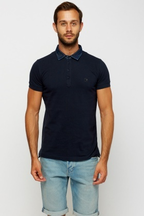 Diesel Denim Collar Polo T-Shirt